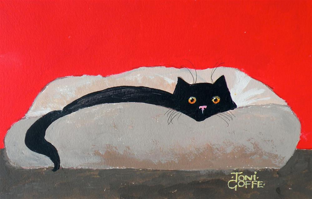 """My Bed!"" original fine art by Toni Goffe"
