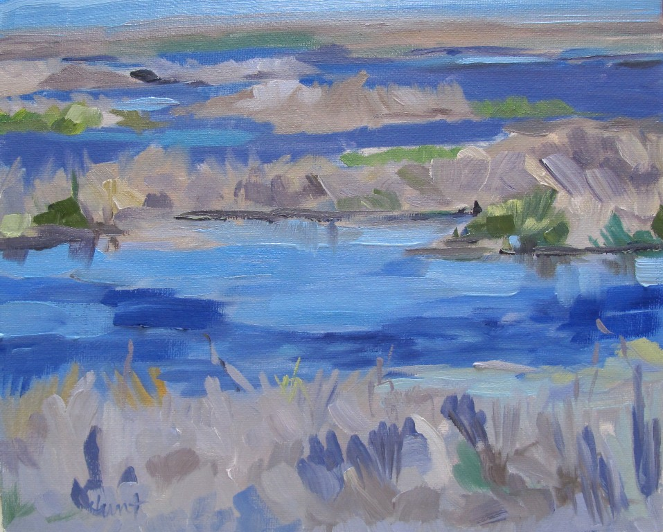 Southern Salt Marsh original fine art by Linda Hunt