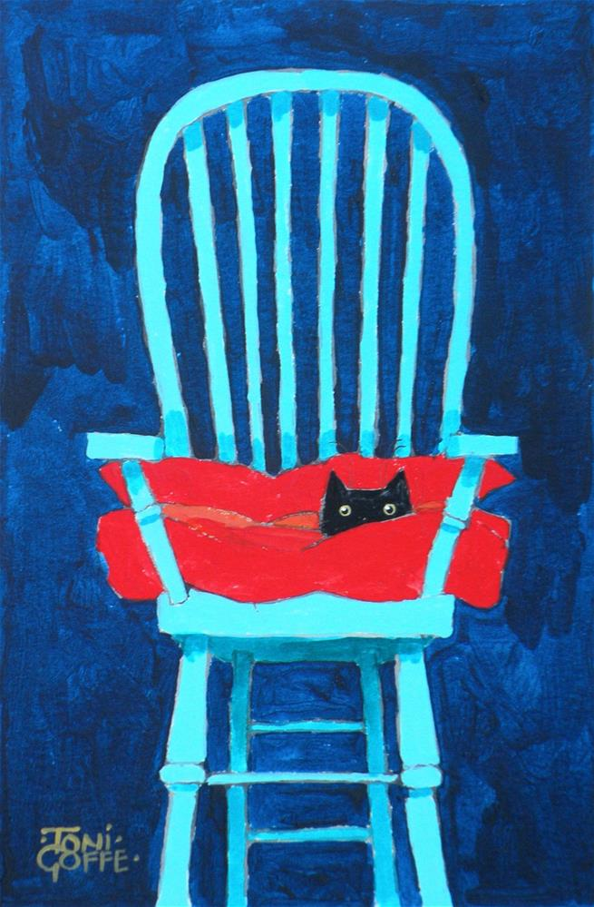 """My Chair!"" original fine art by Toni Goffe"