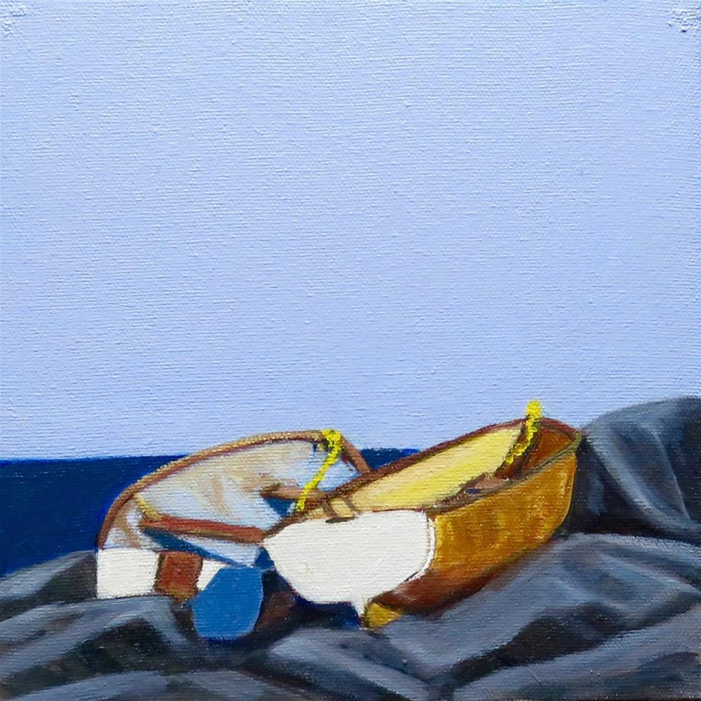 """""""Little Boats 1"""" original fine art by Deborah Czernecky"""