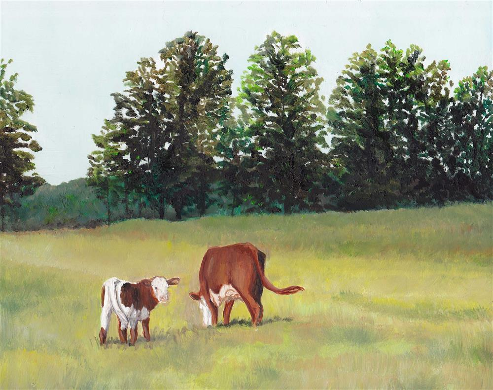 """Peaceful Pasture"" original fine art by Charlotte Yealey"