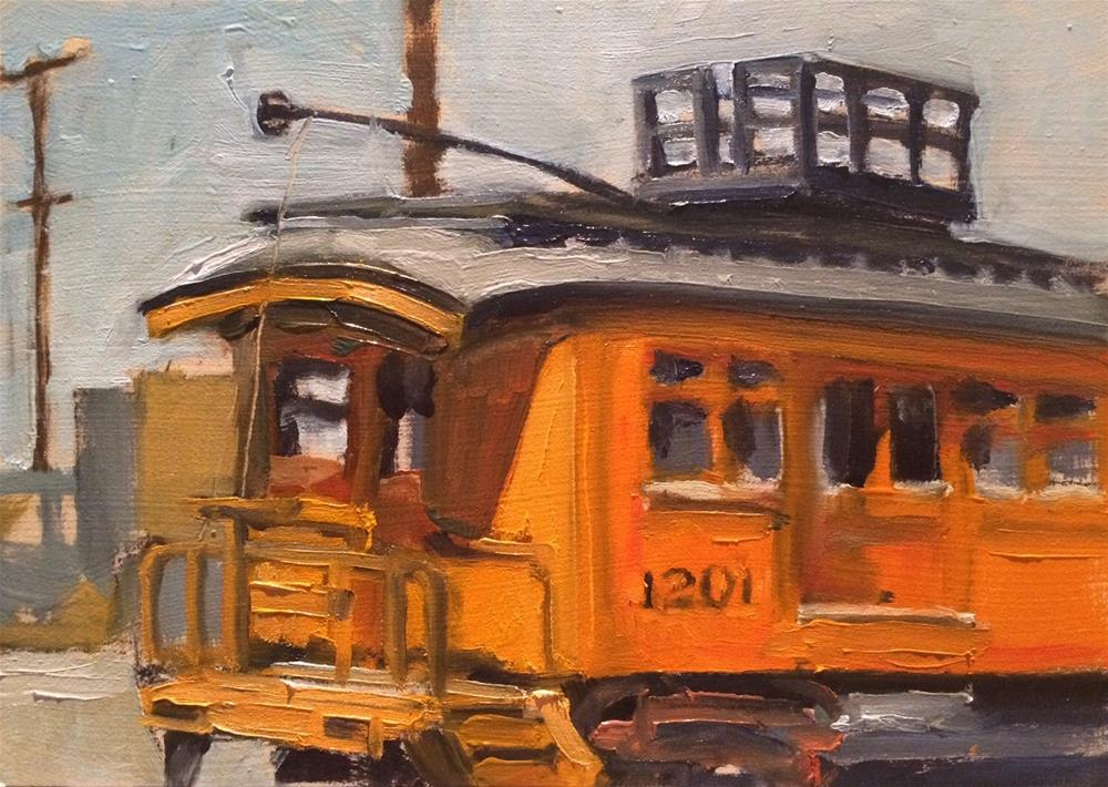 """Trolley 1201"" original fine art by John Tullis"