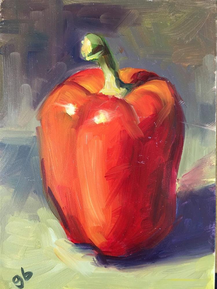 """Big Red"" original fine art by Glenda Shaw Brown"