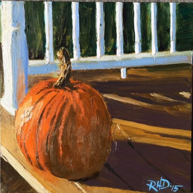 """Fall on the Porch"" original fine art by Richard Doyle"