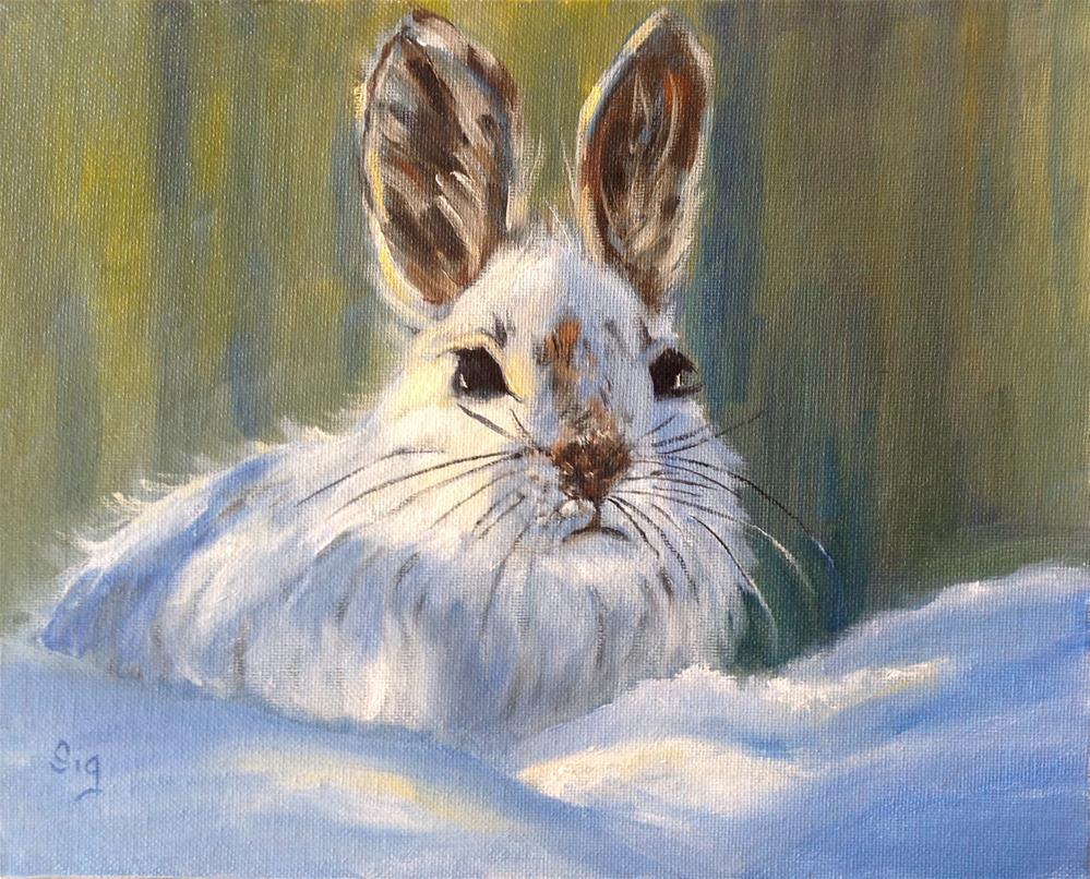"""""""Soft warmth in winter """" original fine art by Sigrid Victor"""