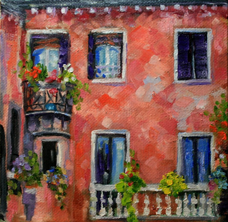"""Balconies"" original fine art by Jean Nelson"