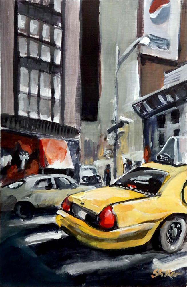 """1902 NYC Crossing 1"" original fine art by Dietmar Stiller"