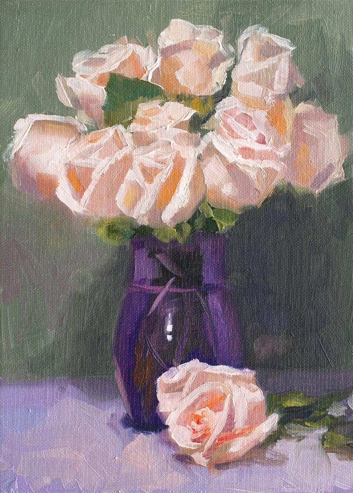 """No. 698 Perrin Rose #7"" original fine art by Susan McManamen"