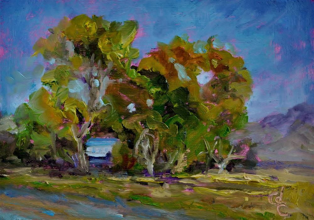 """Seen through the Trees"" original fine art by Catherine Crookston"