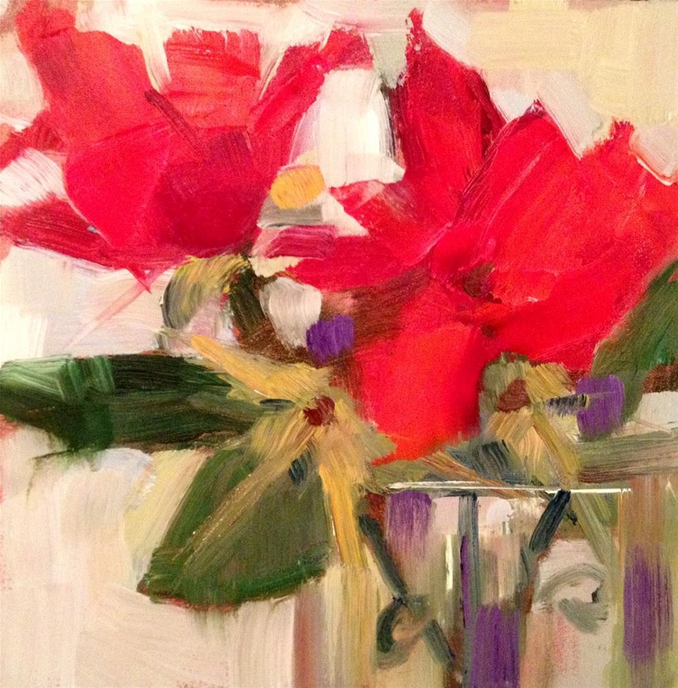 """The Survivors, 6x6"" original fine art by Ann Feldman"