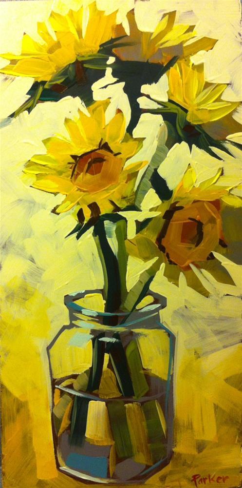 """Happy as a Sunflower"" original fine art by Teddi Parker"