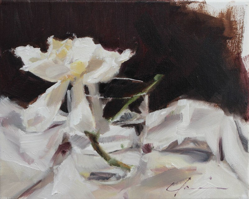 """First Gardenia 2013"" original fine art by Clair Hartmann"