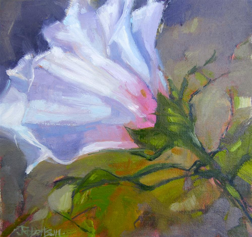 """Rose of Sharon"" original fine art by Jane Robertson"