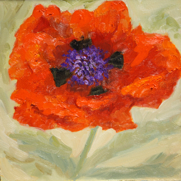 """Poppy - Color of the Year Challenge"" original fine art by Jane Frederick"