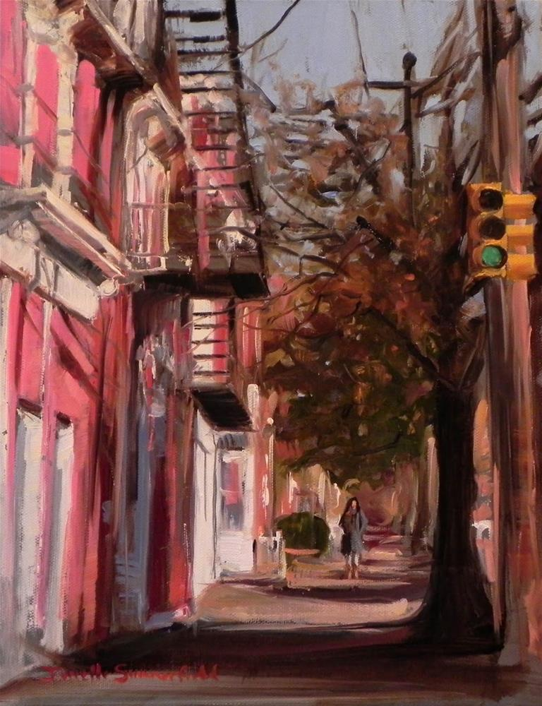 """The South Side of Pittsburgh"" original fine art by Jonelle Summerfield"