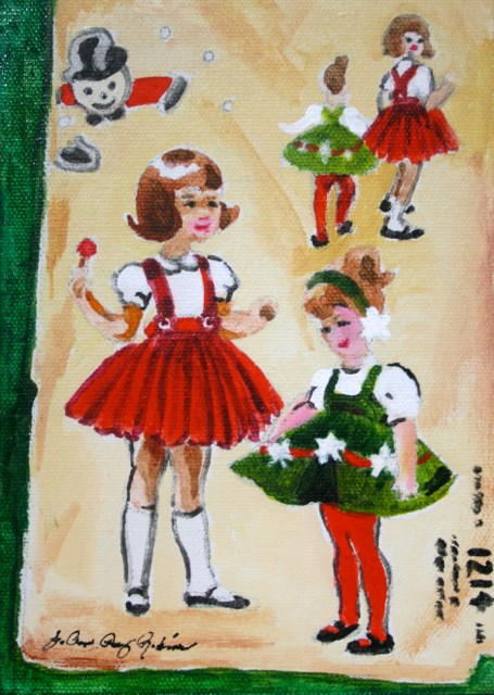 """Holiday Girls"" original fine art by JoAnne Perez Robinson"