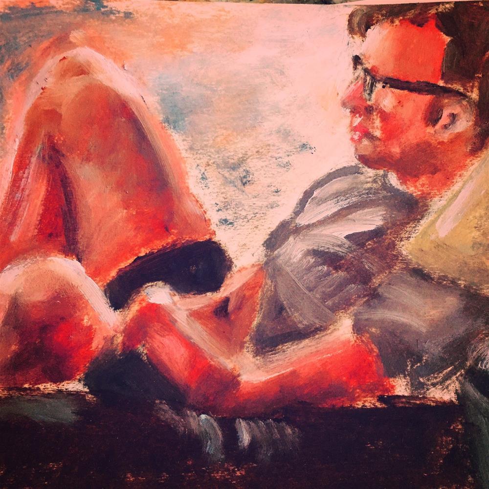 """En repose"" original fine art by Michelle Linnihan"