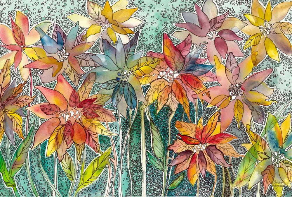 """""""Celebration"""" original fine art by Sharleen Hargreaves"""