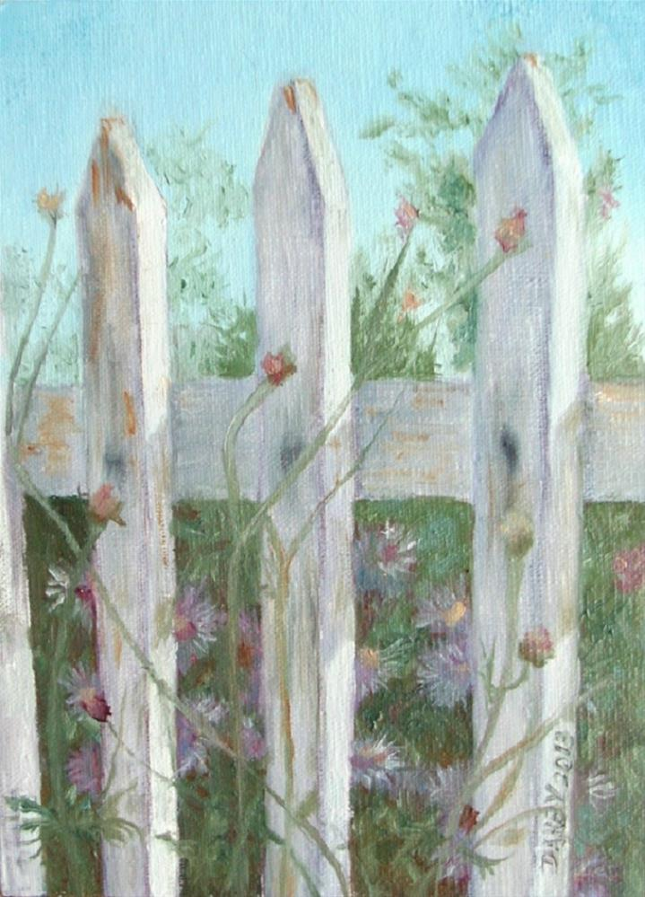 """Old Fence"" original fine art by Lynn Darby"