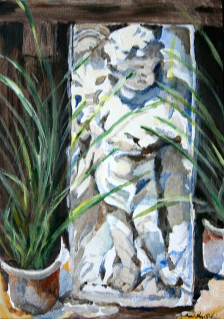 """Angel Baby"" original fine art by JoAnne Perez Robinson"