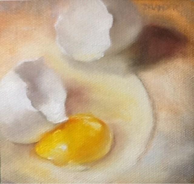 """Broken Egg"" original fine art by Diana Delander"