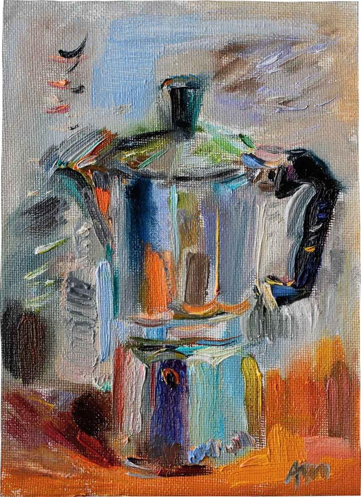 """Coffee Maker"" original fine art by Anna  Fine Art"