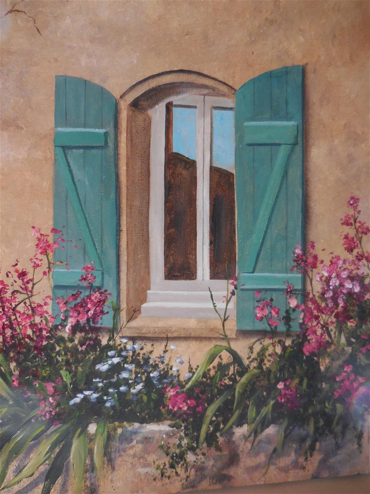 """A Window in France"" original fine art by Terri Nicholson"