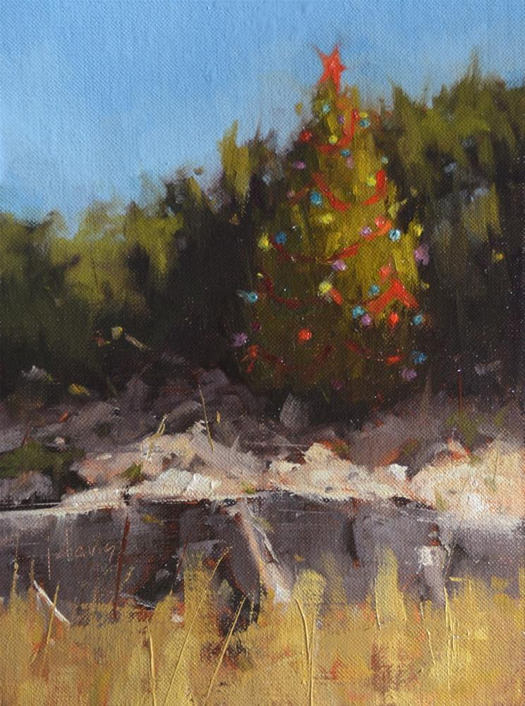 """An Austin Christmas"" original fine art by Julie Davis"