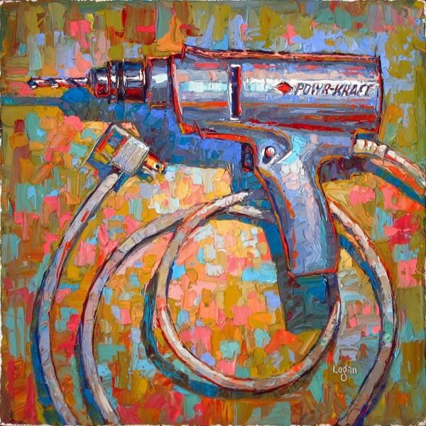 """Montgomery Ward Powr-Kraft Drill"" original fine art by Raymond Logan"