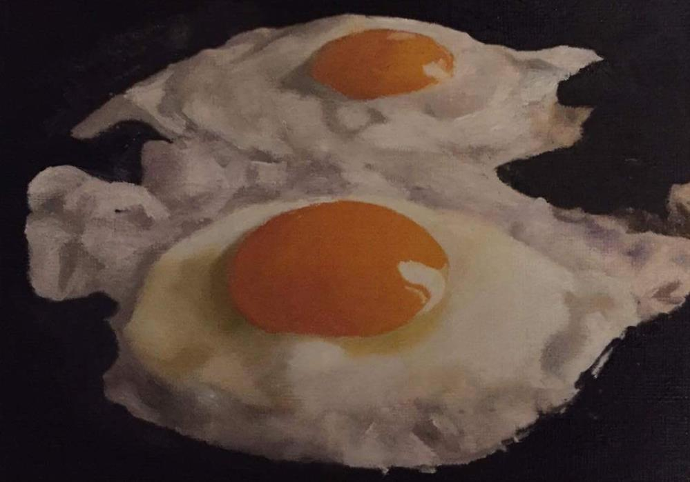 """Fried Eggs"" original fine art by John Cameron"