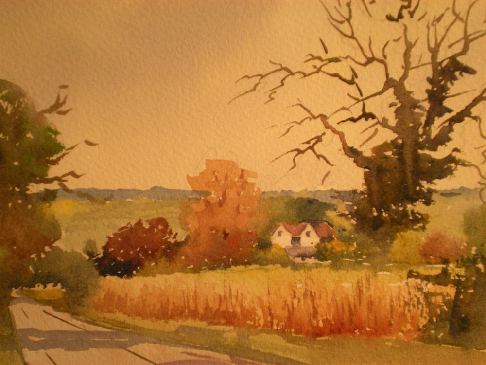 """Countrylane"" original fine art by Graham Findlay"