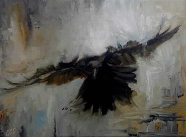 """Raven Study No.2"" original fine art by ~ces~ Christine E. S. Code"