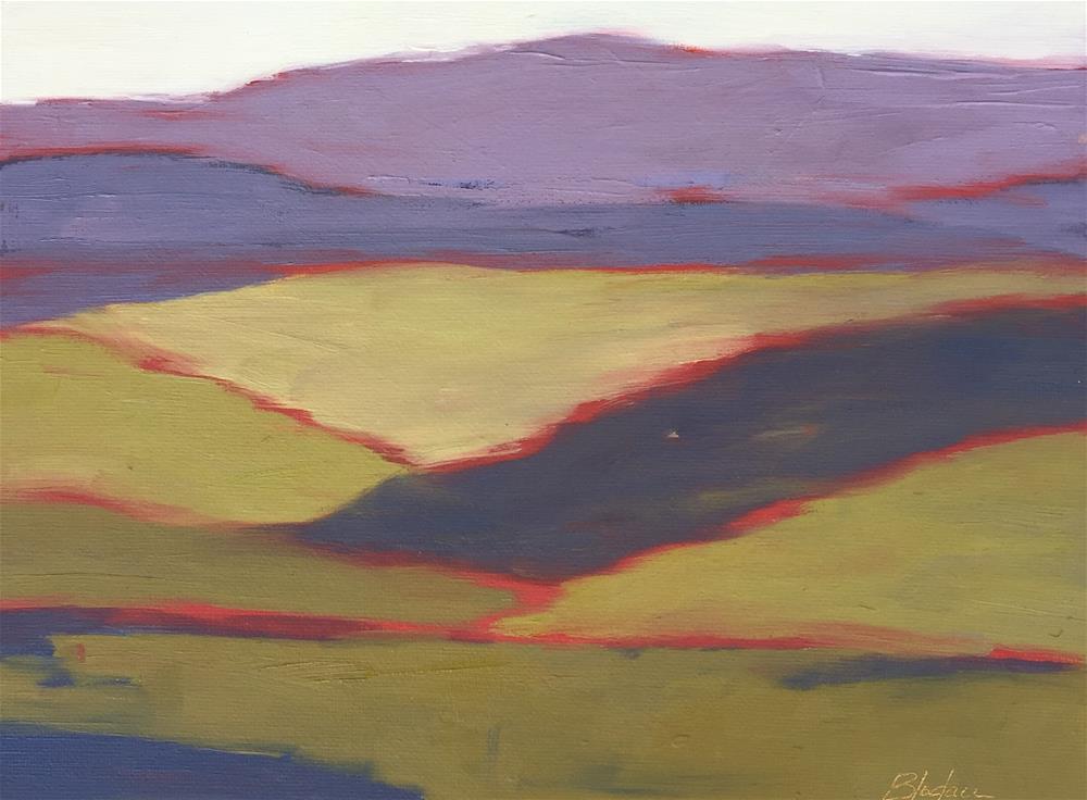 """Lavender Hills"" original fine art by Janet Bludau"