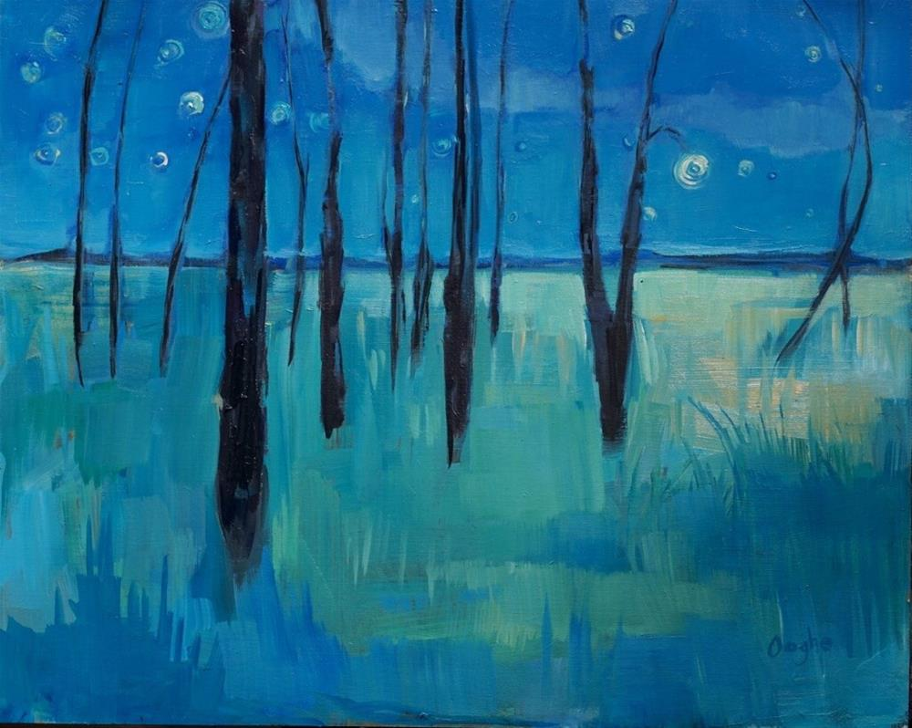 """Night"" original fine art by Angela Ooghe"