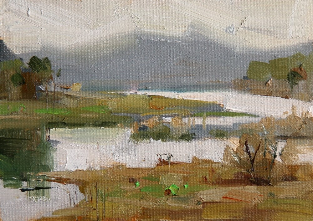 """""Cypress Creek Park 2"" original fine art by Qiang Huang"