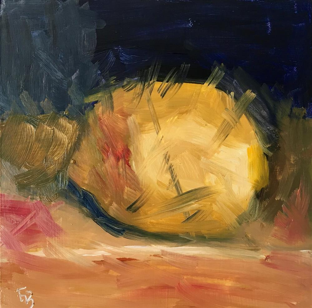 """094 Lemon"" original fine art by Fred Bell"