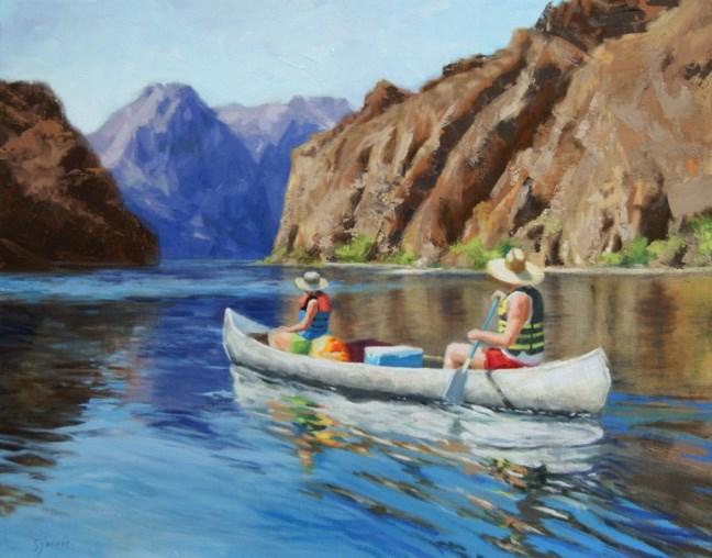 """""""Down River"""" original fine art by Susan N Jarvis"""