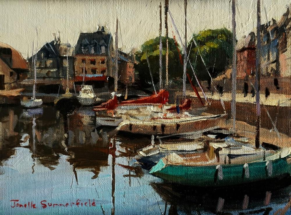 """Docked in Honfleur II Study"" original fine art by Jonelle Summerfield"