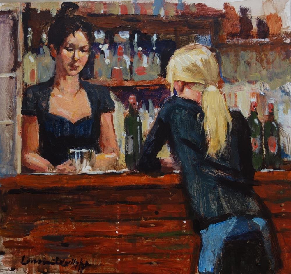 """The Bar"" original fine art by Lorraine Lewitzka"