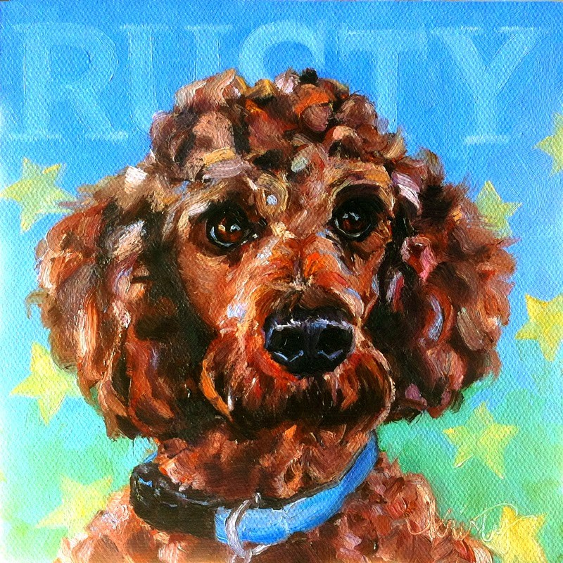 """RUSTY"" original fine art by Kristy Tracy"
