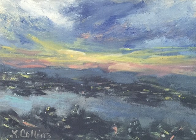 """Just Before Sunset"" original fine art by Kathy Collins"