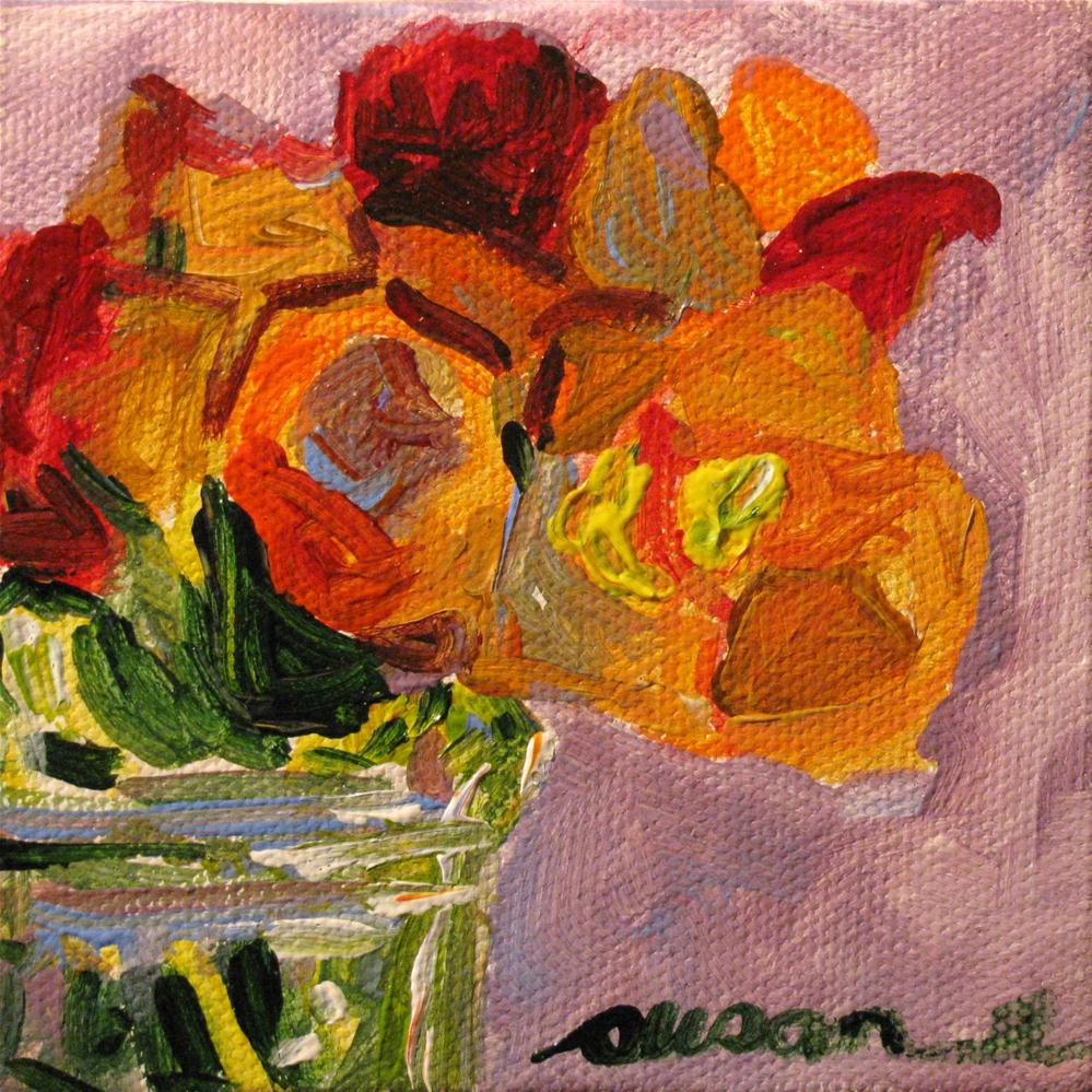 """Floral Miniature (study)"" original fine art by Susan Elizabeth Jones"
