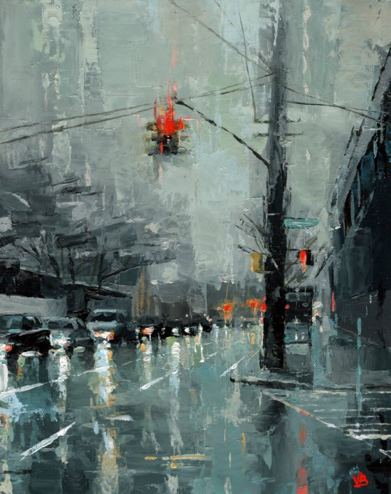 """Red Hook - Brooklyn"" original fine art by Victor Bauer"