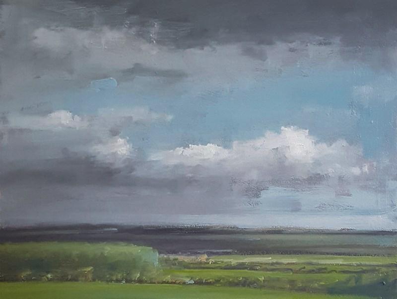 """Sky Over Uppingham"" original fine art by Neil Carroll"
