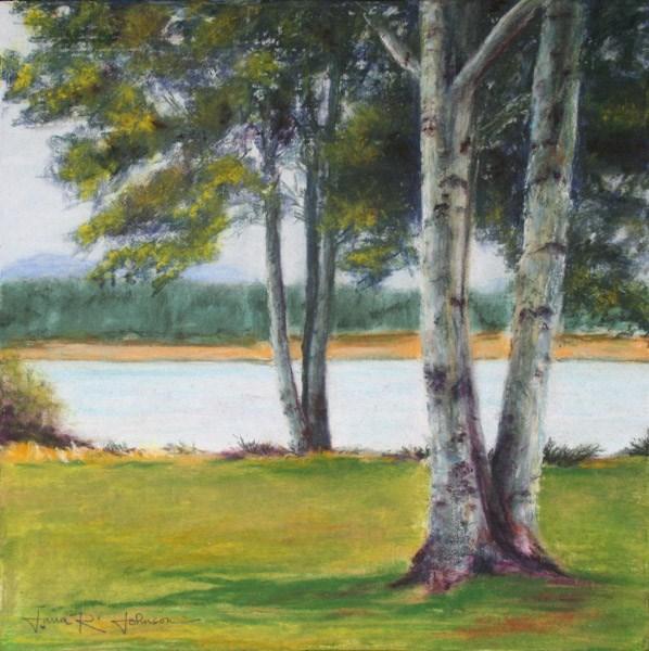 """Black Butte Aspens"" original fine art by Jana Johnson"