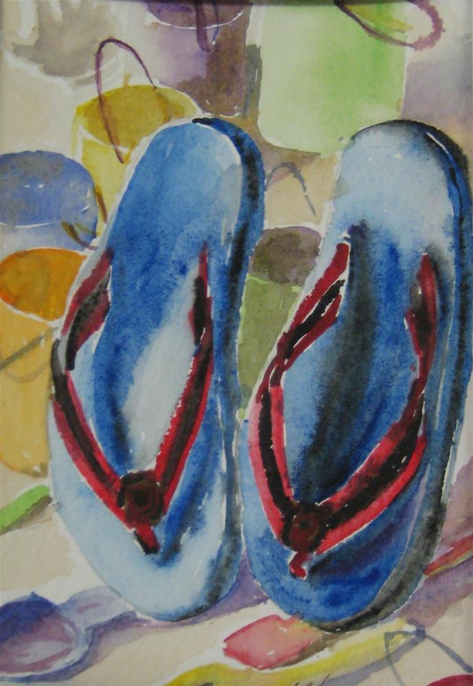 """summer  1"" original fine art by Wenqing Xu"