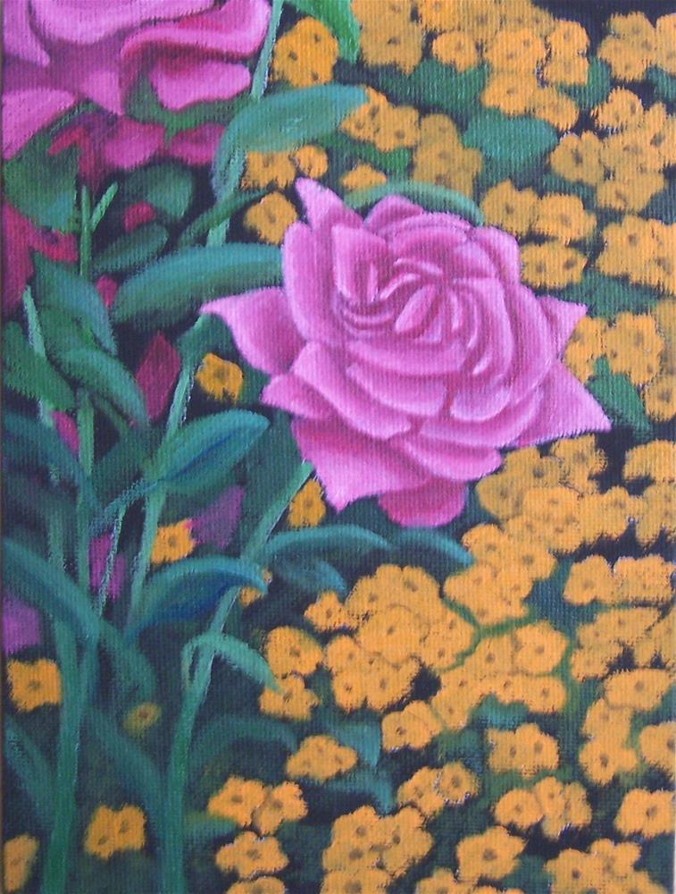 """Pink Rose"" original fine art by John Marcum"