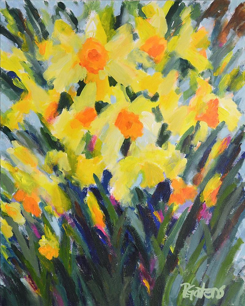 """Greenbrier River Daffodils"" original fine art by Pamela Gatens"
