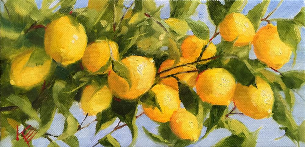 """Lemon Tree II"" original fine art by Krista Eaton"