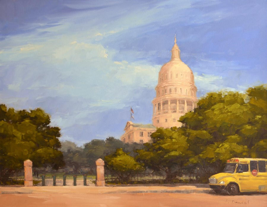 """""""Second of Three Commission Paintings for New Medical Center"""" original fine art by Laurel Daniel"""